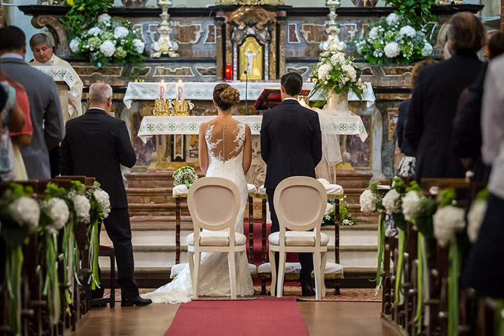 romantic catholic wedding ceremony