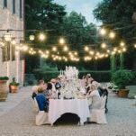 Romantic Borgo Candlelit Wedding Party